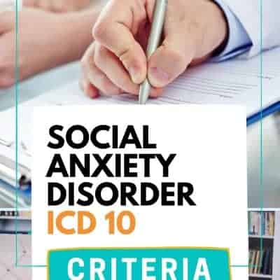 Social Anxiety Disorder ICD 10 Criteria