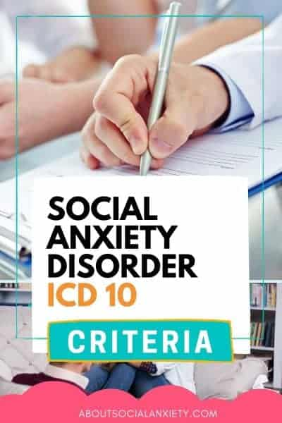 Doctor with text overlay - Social Anxiety Disorder ICD 10 Criteria