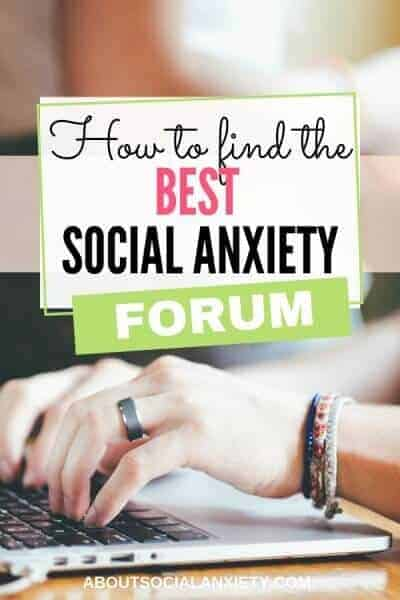 Woman typing with text overlay - How to Find the Best Social Anxiety Forum