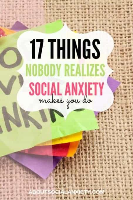 Notepad with text overlay - 17 Things Nobody Realizes Social Anxiety Makes you Do