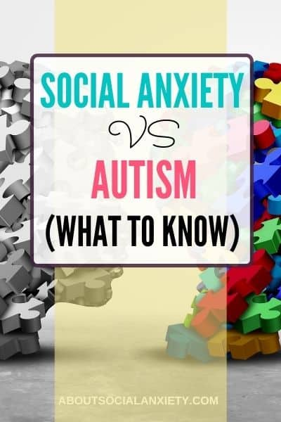 Autism background with text overlay - Social Anxiety vs Autism