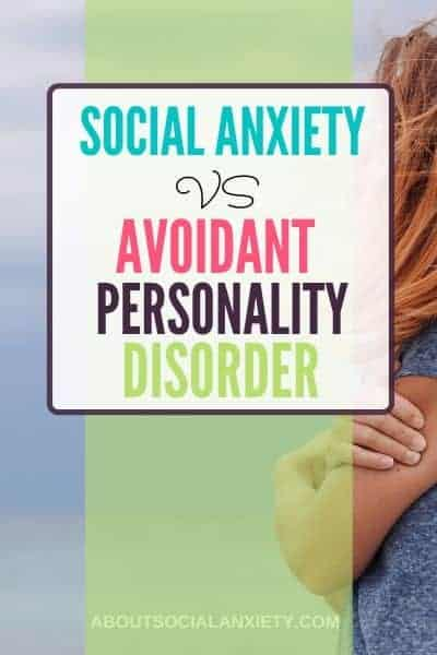 Woman alone with text overlay - Social Anxiety vs Avoidant Personality Disorder