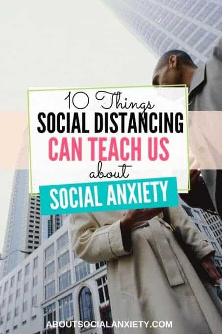People talking with text overlay - 10 Things Social Distancing Can Teach Us About Social Anxiety