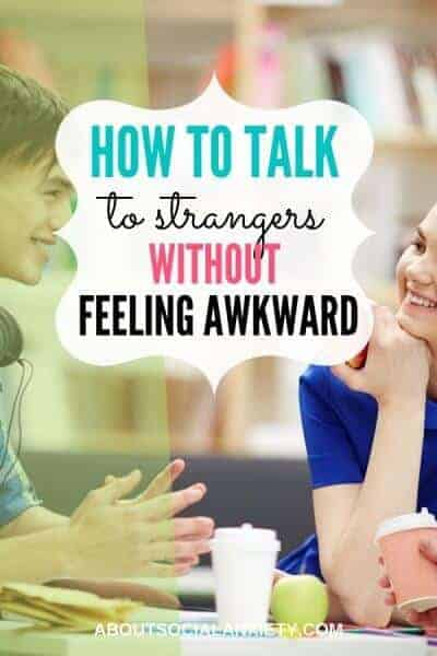 People talking with text overlay - How to Talk to Strangers without Feeling Awkward