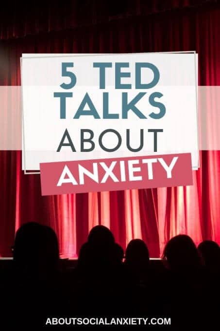 Audience with text overlay - Ted Talks About Anxiety