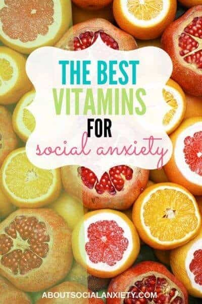 Citrus fruits with text overlay - The Best Vitamins for Anxiety