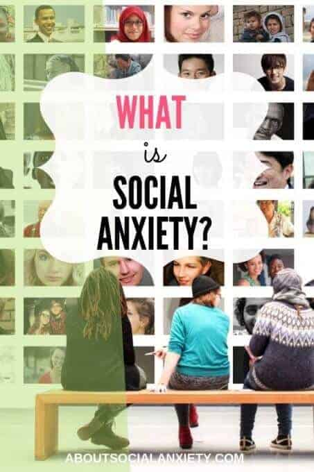 people looking at pictures with text overlay - what is social anxiety?