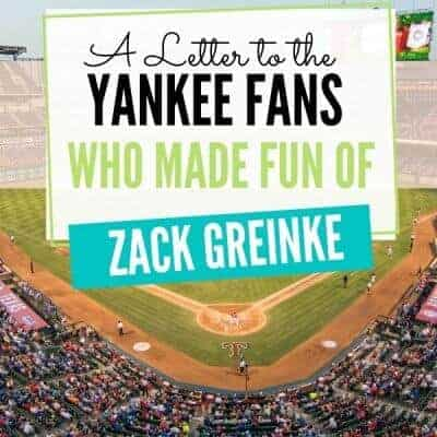 A Letter to the Yankee Fans Who Made Fun of Zack Greinke: I Hope It's Never You